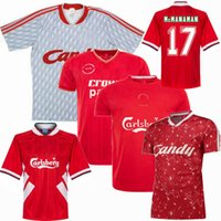 1985 1989 1993 1994 1995 2005 GERRARD RUSH Camisa de futebol retro McMANAMAN BARNES JONES DICKS Camisa de futebol NICOL CLOUGH VINTAGE S-2XL