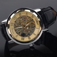Fashion business leisure men watch hollow watch automatic mechanical watch life waterproof leather watchband pin buckle diameter 38mm