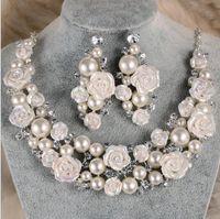Braut Zubehör Tiaras Haar Halskette Ohrringe Zubehör Hochzeit Schmuck-Sets günstigen Preis Mode-Stil Braut Haar Pin Krone
