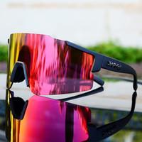 In bicicletta occhiali da sole lenti polarizzate in bicicletta Eyewear Uomo Donna Mountain Bike Cycle Sunglasses MTB Sport vetro 3 lenti con il caso Oculos Ciclismo