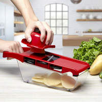 Mandoline Slicer Vegetable Cutter with Stainless Steel Blade...