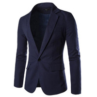 남성 정장 재킷 재킷 하나의 버튼 패션 슬림 솔리드 비즈니스 웨딩 파티 재킷 캐주얼 스타일 아시아 크기