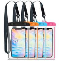 Sacchetto impermeabile impermeabile di nuoto di estate gadget di nuoto spiaggia custodia asciutta custodia per telefono custodia da sci da campeggio per telefono cellulare da 3,5-6,5 pollici
