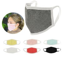 Modal Cotton Mask Kids Adults Solid Plain 2 Layers Anti Dust...