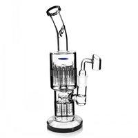 11,4 polegadas Big Glass Bong Waterpipe Recycler Dab Rigs Hookah Bazer De Oil Burner Tubulação Árvore de braço com 18mm Banger