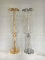 """80cm (31"""" ) Tall 22cm Çap Akrilik Kristal Düğün Centrepiece Yol Kurşun yemeği partisi Masa Dekorasyon Şamdan Standı"""