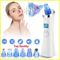 Detergente per pori sottovuoto elettrico per la pulizia dei pori della pelle Acne Comedo Estrattore cura della pelle con 5 sonde di aspirazione Display a LED ricaricabile USB