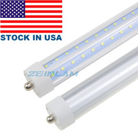 8 피트 싱글 핀 FA8 LED T8 튜브 조명 V 모양의 8 피트 LED 형광 튜브 빛 AC 85-265V + 미국