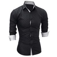 Erkek Elbise Gömlek Erkekler Uzun Kollu Rahat Gömlek Moda Smokin Katı Renk Slim Fit Siyah Erkek Camisa Sosyal Masculina