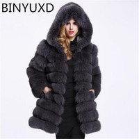 BINYUXD 2019 new Streetwear Faux Fur Coat Winter Jacket Fash...