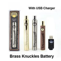 Hot Sale Brass Knuckles Battery 650mAh 900mAh Wooden Gold Si...