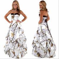 Cariño drapeado rebordear espalda con cordones vestido de novia de satén camo blusa simple vestidos de novia vestidos de novia