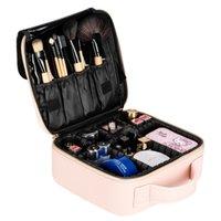 Sacchetti cosmetici professionali di alta capacità di trucco Borse Multilayer portatile Viaggi sacchetto di trucco cinturino rosa trucco cassa dell'organizzatore