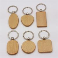 تخصيص فارغ جولة ساحة شكل قلب الخشب الحلي الإبداعية خشبي مفتاح الإبزيم الزفاف هدية عيد ميلاد للرجل والمرأة 1 45rt H1