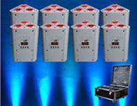 10PCS IR عن بعد بطارية تعمل إسفين الاسمية uplighting موقف DJ الزفاف RGBWA UV قاد بطارية DMX اللاسلكية uplighting EEA1274