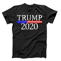Trump 2020 T-shirt tornar a América Great Again Impressão preta de manga curta Trump Eleição US Fontes grátis