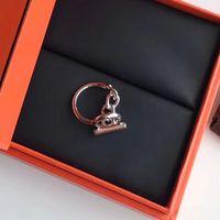 العلامة التجارية نقية 925 الفضة الاسترليني للنساء البخار فاسق قفل سلسلة h مجوهرات الزفاف الأزياء حزب خواتم فاخرة C19041201