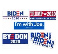 2020年大統領のためのJoe BidenキャンペーンバンパーステッカードナルドトランプカーステッカーPVCデカールアメリカ大統領パスタアクセサリーD62903