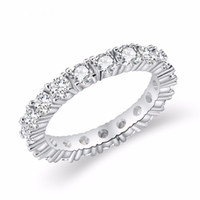 2019 jóias brancas cor inlay cúbico zirconia shaped anel para as mulheres tamanho de noivado de casamento