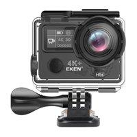 EKEN H5S Plus Caméra Action HD 4K 30FPS EIS 170 BLAND BLANGE WIFI Control 30m Étanche Appareil photo à écran tactile 2.0 '