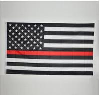 90 * 150cm BlueLine EUA Polícia Flags 5 estilos 3x5 bandeira americana Bandeira Azul Pé fina de Blue Line EUA branco e preto com latão Grommets WY080