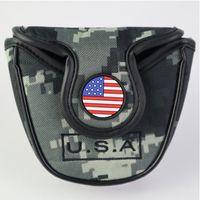 Golf Putter Kapak ABD Amerikan Ulusal Bayrağı Golf Mallet Atıcı Kafa Kapak Koruyucu