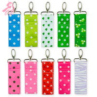 Lipstick Bag Fashion Flexible Lip Balm Keychain Cosmetics Su...