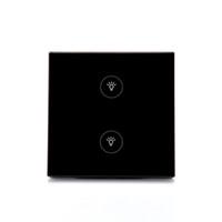 Panneau de verre en cristal de commutateur activé par Wifi de vente chaude à télécommande pour la maison intelligente / commutateur à deux joueurs