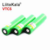 Vendita calda della batteria 3000mAh Liitokala 18650 30A batteria universale di potenza della batteria al litio us18650 vtc6 torcia elettrica al 100% per