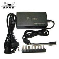 Ücretsiz Kargo Sıcak Evrensel 96 W Laptop Dizüstü 12 V-24 V AC Şarj Güç Adaptörü 8 Konnektörler Güç Kablosu ile