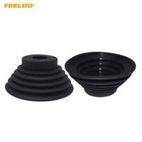 FEELDO 2PCS Universal Car HID LED Headlight Dustproof Cover Rubber Sealing Headlamp Cap Dia 70/78/88/100/110mm Waterproof #5963