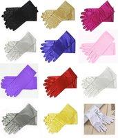 """9 """"قفازات المعصم طول الحرير تمتد للنساء الفتيات يوميا العروس الحفلة الراقصة الرسمية 11 الألوان"""