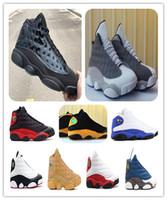 Ucuz 13 Atmosfer Gri Bred Playoff Kiraz Chicago Basketbol Ayakkabı 13 S Cap ve Kıyafeti Atletizm Menwomen Sneakers Ayakkabı Kutusu ile