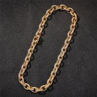 Hip Hop Kette Halskette Gold Farbe Euro cz Hip Hop Halsketten Schmuck Männer Frauen Nizza Geschenk Großhandel