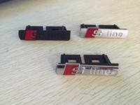 سيارة التصميم S Line Sline مصبغة أمامية شعار شارة مطلي بالكروم ABS - جبهة مصبغة جبل لأودي A1 A3 A4 A4L A5L A6L S3 S6 Q5 Q7 التسمية