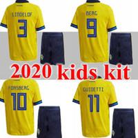 New Kids Kit 2020 Suecia Soccer Jerseys 2020 2021 Sverige National Team Home Forsberg Lindelof Guinetti Camisa de Fútbol Niño