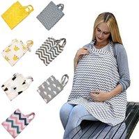الرضع الكرتون الطفل الرضاعة الطبيعية تغطية التمريض ويغطي الثدي الأم تغذية 100٪ القطن الأمومة التمريض في الهواء الطلق المريلة RN8030