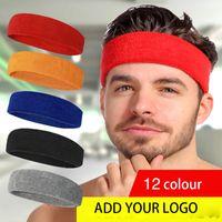 Headband adicionar seu logotipo Headwear Unisex Algodão Headbands Esportes Yoga respira Cabeça cabelo esportes Velo Headband DA MODA SWEATBAND