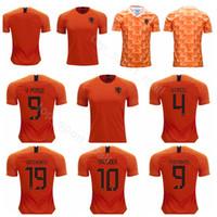 27972696e Netherlands Jersey 2019 2020 Men Soccer 9 PERSIE 4 VIRGIL 19 WEGHORST 10  SNEIJDER 9 MEMPHIS Football Shirt Kits Uniform Team Orange