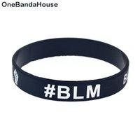 1PC 주먹 BLM 블랙 삶 물질 실리콘 고무 팔찌 슬로건 장식 로고 쥬얼리 성인 크기 2 색상