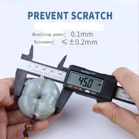 Inicio Útil 150 mm / LCD de 6 pulgadas electrónicos Medidor Digital de fibra de carbono Pie de rey Regla X Schieblehre