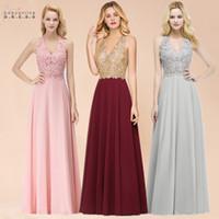 Babyonlinedress Halter Neck Lace Pearls Prom Dresses Long Sexy Open Back Chiffon Evening Prom Gowns Vestido De Gala Jurken CPS1083