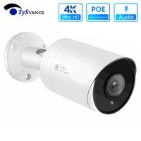 4K POE IP Câmara bullet Ultra HD 8MP impermeável Camera Audio Video Segurança Vigilância CCTV para POE NVR ONVIF H.265