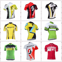 Equipo SCOTT Ciclismo Mangas cortas jersey MTB Hombre Ropa de verano Ciclismo Ropa de ciclismo BICICLETA Maillot Culotte 012330F