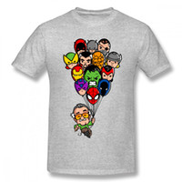 Funny Balloon Marvel Stan Lee Tshirt Cartoon Style Men t- shi...