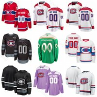 Personalizado Montreal Canadiens Jordie Benn Jersey Hockey sobre hielo Joel Armia Jesperi Kotkaniemi Jonathan Drouin Tomas Plekanec Día de San Patricio