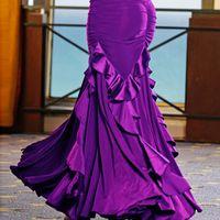 Bühnenabzug benutzerdefinierte Flamenco-Tanzkleidung Röcke Ballsaal-Rock Walzer spanische Kleider modernes Kostüm