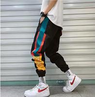 2019 nuovi uomini hip hop streetwear da uomo schernire pantaloni pantaloni moda uomini casual pantaloni pantaloni da pantaloni da pantaloni ad alta via elasticizzato in vita harem pantaloni