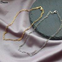 gioielli Donia collana europea ed in titanio moda regalo di accessori moda collana a catena in acciaio di lusso compleanno americana