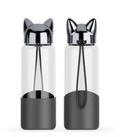350 Bottle ML criativa flash Fox água com corda bonito portáteis garrafa de água ao ar livre Mulheres de vidro dos desenhos animados de isolamento da tampa